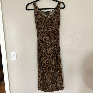 💛 Cheetah Midi Moda International Dress